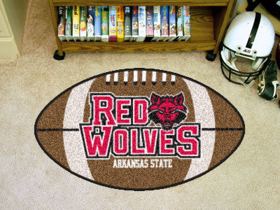 "NCAA Officially licensed Arkansas State University Football Mat 20.5""x32.5"" Protect your floor in style and show off your fa"