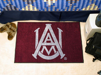 "NCAA Officially licensed Alabama A&M University Starter Mat 19""x30"" Start showing off your team pride at home and the office"