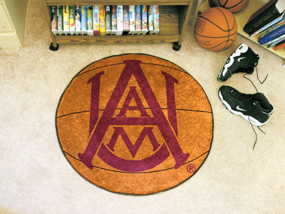 "NCAA Officially licensed Alabama A&M University Basketball Mat 27"" diameter Protect your floor in style and show off your fa"