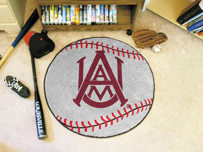 "NCAA Officially licensed Alabama A&M University Baseball Mat 27"" diameter Protect your floor in style and show off your fand"