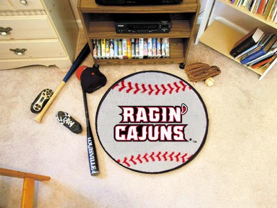 "NCAA Officially licensed University of Louisiana-Lafayette Baseball Mat 27"" diameter Protect your floor in style and show of"