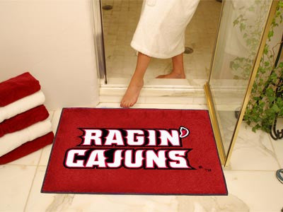 "NCAA Officially licensed University of Louisiana-Lafayette All Star Mat 33.75""x42.5"" Join the All-Star team and decorate you"