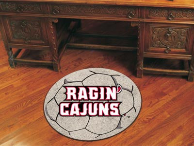 "NCAA Officially licensed University of Louisiana-Lafayette Soccer Ball 27"" diameter Protect your floor in style and show off"