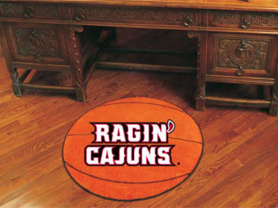 "NCAA Officially licensed University of Louisiana-Lafayette Basketball Mat 27"" diameter Protect your floor in style and show"