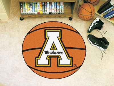 "NCAA Officially licensed Appalachian State Basketball Mat 27"" diameter Protect your floor in style and show off your fandom"