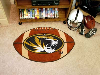 "NCAA Officially licensed University of Missouri Football Mat 20.5""x32.5"" Protect your floor in style and show off your fando"