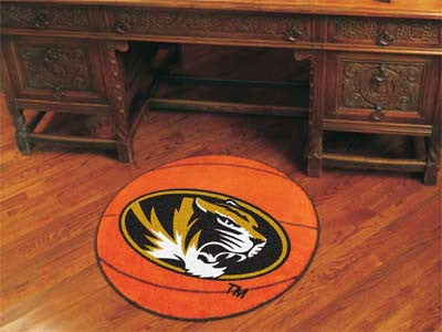 "NCAA Officially licensed University of Missouri Basketball Mat 27"" diameter Protect your floor in style and show off your fa"