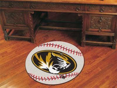 "NCAA Officially licensed University of Missouri Baseball Mat 27"" diameter Protect your floor in style and show off your fand"