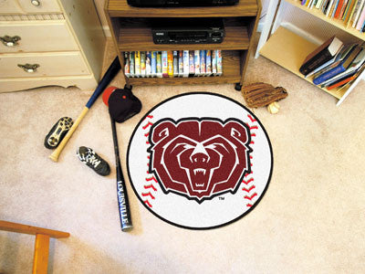 "NCAA Officially licensed Missouri State Baseball Mat 27"" diameter Protect your floor in style and show off your fandom with"