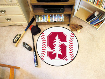 "NCAA Officially licensed Stanford University Baseball Mat 27"" diameter Protect your floor in style and show off your fandom"