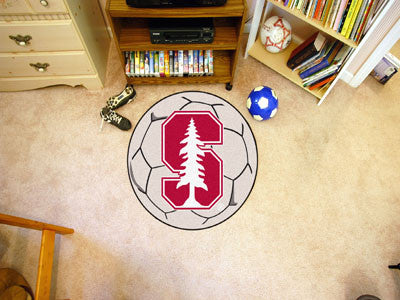 "NCAA Officially licensed Stanford University Soccer Ball 27"" diameter Protect your floor in style and show off your fandom w"