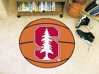 "NCAA Officially licensed Stanford University Basketball Mat 27"" diameter Protect your floor in style and show off your fando"