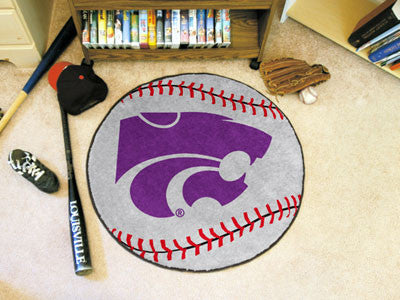 "NCAA Officially licensed Kansas State University Baseball Mat 27"" diameter Protect your floor in style and show off your fan"