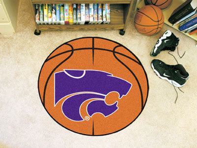"NCAA Officially licensed Kansas State University Basketball Mat 27"" diameter Protect your floor in style and show off your f"