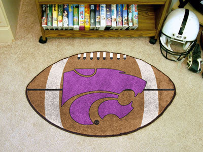 "NCAA Officially licensed Kansas State University Football Mat 20.5""x32.5"" Protect your floor in style and show off your fand"