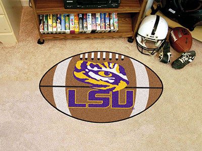 "NCAA Officially licensed Louisiana State University Football Mat 20.5""x32.5"" Protect your floor in style and show off your f"