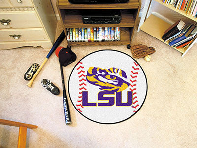 "NCAA Officially licensed Louisiana State University Baseball Mat 27"" diameter Protect your floor in style and show off your"