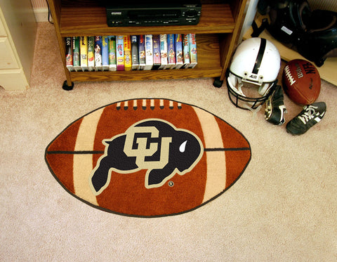 "NCAA Officially licensed University of Colorado Football Mat 20.5""x32.5"" Protect your floor in style and show off your fando"