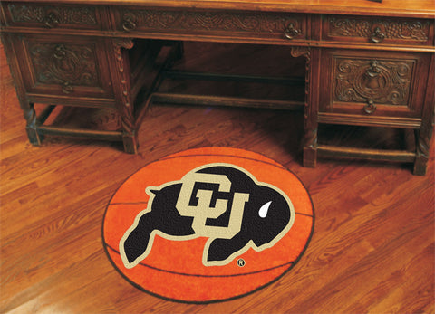 "NCAA Officially licensed University of Colorado Basketball Mat 27"" diameter Protect your floor in style and show off your fa"