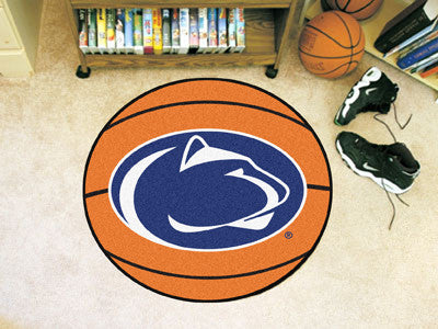 "NCAA Officially licensed Penn State Basketball Mat 27"" diameter Protect your floor in style and show off your fandom with Ba"