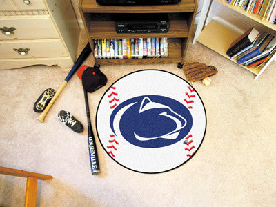 "NCAA Officially licensed Penn State Baseball Mat 27"" diameter Protect your floor in style and show off your fandom with Base"