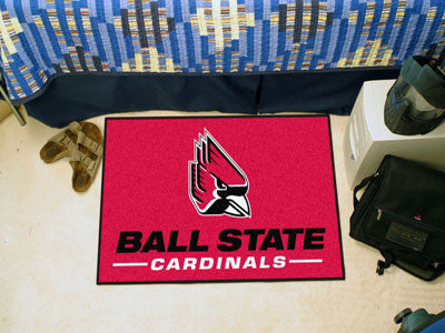 "NCAA Officially licensed Ball State University Starter Mat 19""x30"" Start showing off your team pride at home and the office"