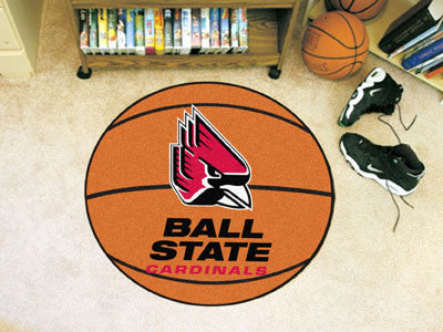 "NCAA Officially licensed Ball State University Basketball Mat 27"" diameter Protect your floor in style and show off your fan"