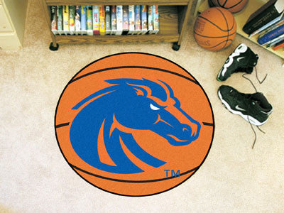 "NCAA Officially licensed Boise State University Basketball Mat 27"" diameter Protect your floor in style and show off your fa"
