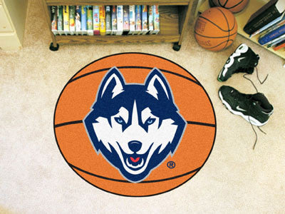 "NCAA Officially licensed University of Connecticut Basketball Mat 27"" diameter Protect your floor in style and show off your"