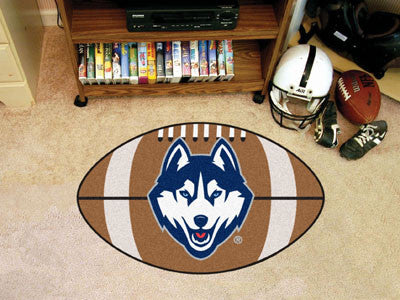 "NCAA Officially licensed University of Connecticut Football Mat 20.5""x32.5"" Protect your floor in style and show off your fa"
