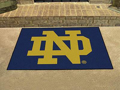 "NCAA Officially licensed Notre Dame All Star Mat 33.75""x42.5"" Join the All-Star team and decorate your home or office with a"
