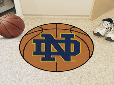 "NCAA Officially licensed Notre Dame Basketball Mat 27"" diameter Protect your floor in style and show off your fandom with Ba"