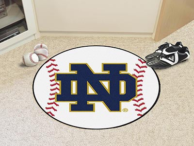 "NCAA Officially licensed Notre Dame Baseball Mat 27"" diameter Protect your floor in style and show off your fandom with Base"