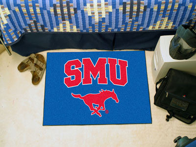 "NCAA Officially licensed Southern Methodist University Starter Mat 19""x30"" Start showing off your team pride at home and the"