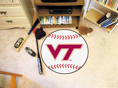 "NCAA Officially licensed Virginia Tech Baseball Mat 27"" diameter Protect your floor in style and show off your fandom with B"