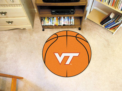 "NCAA Officially licensed Virginia Tech Basketball Mat 27"" diameter Protect your floor in style and show off your fandom with"