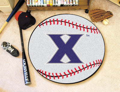 "NCAA Officially licensed Xavier University Baseball Mat 27"" diameter Protect your floor in style and show off your fandom wi"
