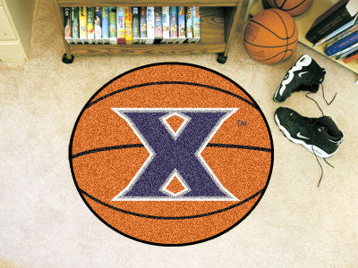 "NCAA Officially licensed Xavier University Basketball Mat 27"" diameter Protect your floor in style and show off your fandom"