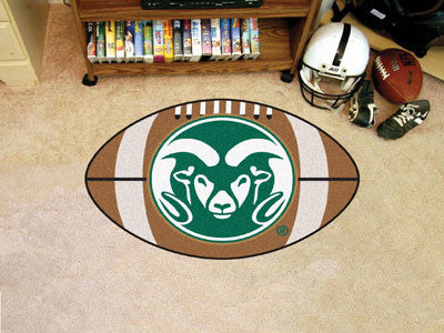 "NCAA Officially licensed Colorado State University Football Mat 20.5""x32.5"" Protect your floor in style and show off your fa"