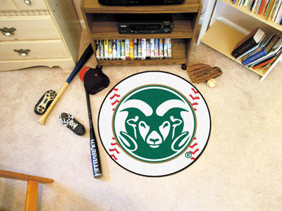 "NCAA Officially licensed Colorado State University Baseball Mat 27"" diameter Protect your floor in style and show off your f"