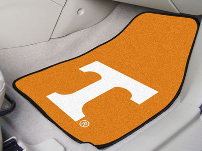 "NCAA Officially licensed University of Tennessee 2-pc Carpet Car Mat Set 17""x27"" Show your fandom even while driving with Ca"