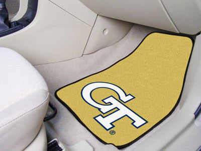 "NCAA Officially licensed Georgia Tech 2-pc Carpet Car Mat Set 17""x27"" Show your fandom even while driving with Carpet Car Ma"