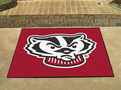 "NCAA Officially licensed University of Wisconsin All Star Mat 33.75""x42.5"" Join the All-Star team and decorate your home or"