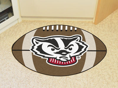 "NCAA Officially licensed University of Wisconsin Football Mat 20.5""x32.5"" Protect your floor in style and show off your fand"