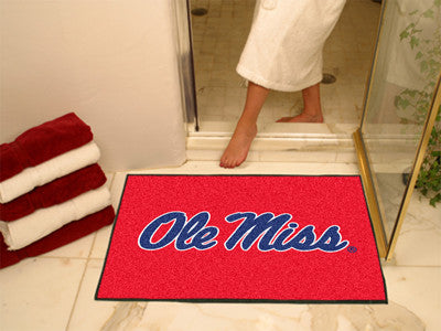 "NCAA Officially licensed University of Mississippi (Ole Miss) All Star Mat 33.75""x42.5"" Join the All-Star team and decorate"