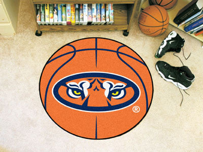 "NCAA Officially licensed Auburn University Basketball Mat 27"" diameter Protect your floor in style and show off your fandom"