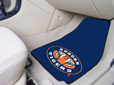 "NCAA Officially licensed Auburn University 2-pc Carpet Car Mat Set 17""x27"" Show your fandom even while driving with Carpet C"