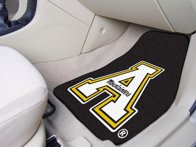 "NCAA Officially licensed Appalachian State 2-pc Carpet Car Mat Set 17""x27"" Show your fandom even while driving with Carpet C"