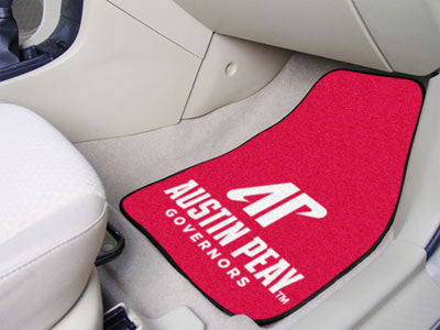 "NCAA Officially licensed Austin Peay State University 2-pc Carpet Car Mat Set 17""x27"" Show your fandom even while driving wi"
