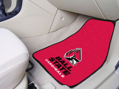 "NCAA Officially licensed Ball State University 2-pc Carpet Car Mat Set 17""x27"" Show your fandom even while driving with Carp"